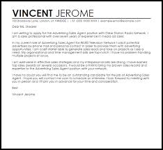 advertising sales agent cover letter sample livecareer