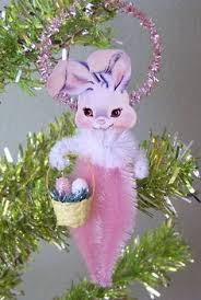 chenille easter chenille easter bunny children ornaments set of 2 bethany lowe new