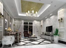 Decorating With Chandeliers Lovable Ceiling Designs For Living Room With Brown Color In Top