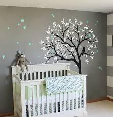 Nursery Wall Mural Decals Large Owl Hoot Tree Nursery Decor Wall Decals Wall
