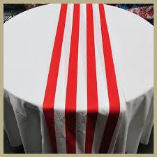 red and white table runner white stripe print cotton table runner