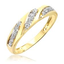 gold wedding rings for women 1 4 carat t w diamond women s wedding ring 10k yellow gold