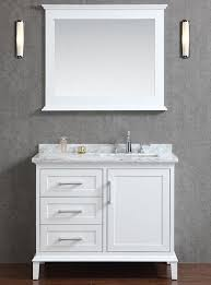 42 Inch Bathroom Cabinet Sink To One Side Provides More Useable Counter Space Ace 42 Inch