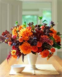 arranging orange flower arrangements martha stewart