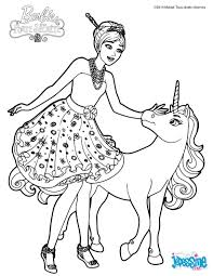 coloriage barbie alexa et le bébé licorne fairies u0026 princesses