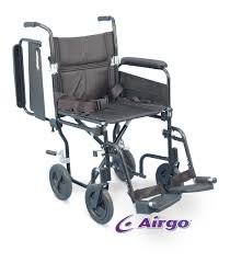 siege de transport fauteuil de transport léger comfort plus airgo avec appuis bras