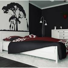 Black And White And Red Bedroom - bedroom white round bedside table black white and red bedroom