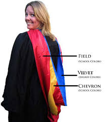doctoral graduation gown graduation collars vibrant graduation collar colors for
