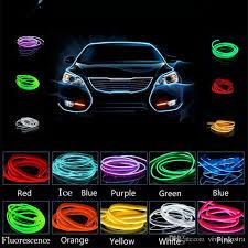 2018 auto atmosphere light 2m 12v car cold light wire neon l