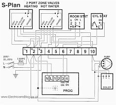 s plan twin zone central heating wiring diagram electrician blog
