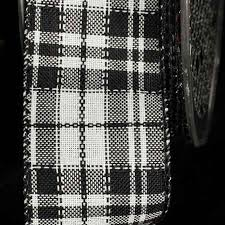 black and white wired ribbon cheap black and white plaid ribbon find black and white plaid