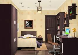 Light Yellow House by Pale Yellow Bedroom And Dark Brown Furniture 3d House