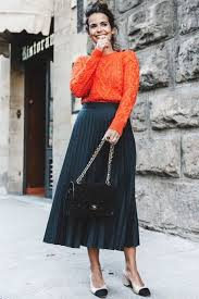 pleated skirts 30 trendy ways to style pleated skirts this fall