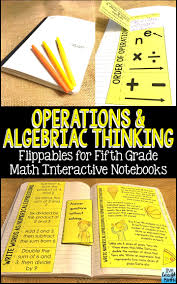 math interactive notebook grade 5 operations and algebraic