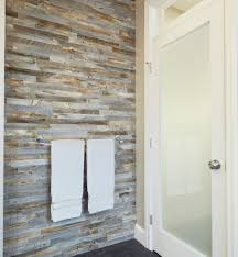 Barnwood Bathroom Elegant Wood Tile Wall Designs In Bathrooms Everitt U0026 Schilling