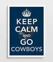 dallas cowboys keep calm football print man cave home