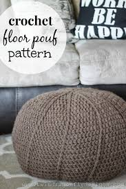 Crochet Ottoman Pattern Free Crochet Floor Pouf Pattern Dragonfly Designs