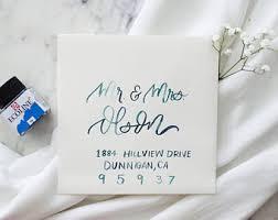 Wedding Envelopes Watercolor Envelopes Etsy