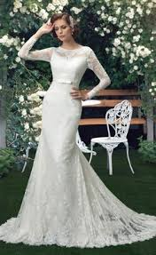 wedding dress malaysia buy hot scoop mermaid sleeve lace wedding dress from