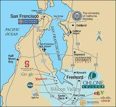 san francisco map of usa ohlone college san francisco sf bay area map universities and