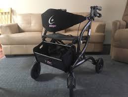 Airgo Comfort Plus Transport Chair Airgo Comfort Plus Folding Cane Walking Stick As New