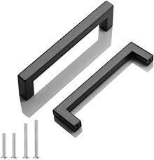 what color cabinets go well with black stainless steel appliances 30 pack probrico black stainless steel square corner bar cabinet door handles drawer pulls knobs 1 2 in width centers 5 inch 128mm