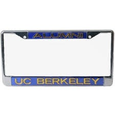 uc berkeley alumni license plate frame california golden bears metal alumni inlaid acrylic