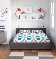 beautiful of small modern bedroom design contemporary small bedroom design for teenage with grey upholstered fabric queen size beds which has beautiful