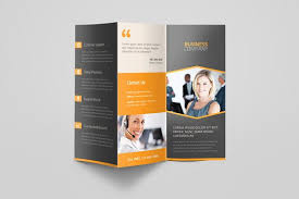 Tri Fold Program Corporate Business Trifold Brochure Brochure Templates