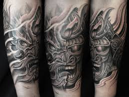 half sleeve dragon samurai tattoo chronic ink