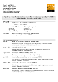 Sample Ece Resume by Cv Anglais X