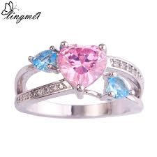 wholesale engagement rings online get cheap blue heart engagement ring aliexpress com