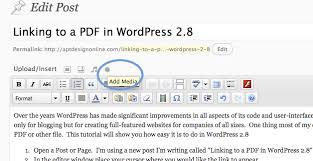 tutorial wordpress com pdf uploading and linking to a pdf in wordpress 2 8 apt design