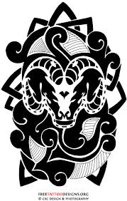 35 aries tattoos ram designs
