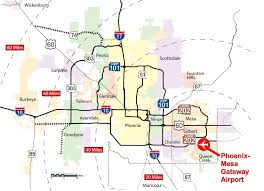 Chandler Arizona Map by Cargo Opportunities Phoenix Mesa Gateway Airport