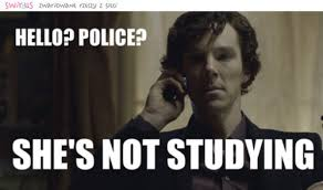 Funny Sherlock Memes - she s not studying discovered by veronice on we heart it