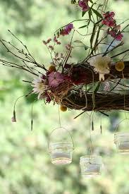 diy floral twig wreath chandelier charming flowers pinterest