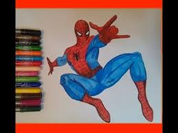 spiderman coloring pages kids colouring book spiderman colors