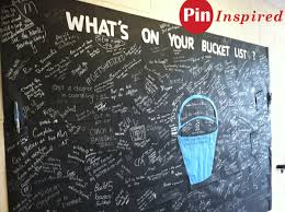 list chalkboard wall of inspirations and ideas pin inspired