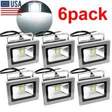 120v led flood lights 6pack 10w 120v led flood light spotlights white outdoor garden