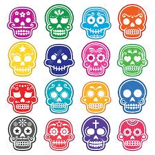 halloween mexican sugar skull dia de los muertos cartoon