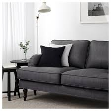 ikea wood sofa stocksund three seat sofa nolhaga dark grey black