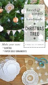 how to make it a sweet and simple christmas tree with handmade