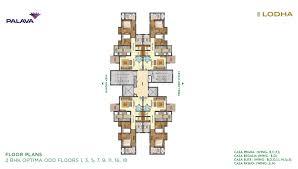 lakeshore greens layout and floor plan lodha palava lakeshore greens floor plan