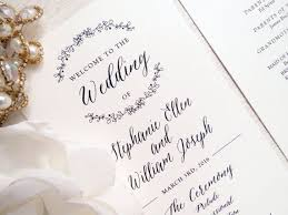 Wedding Program Stationary 100 Best Wedding Programs Images On Pinterest Wedding