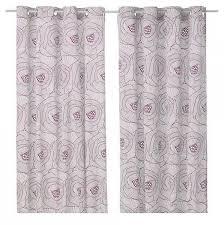 ikea ingerlise curtains drapes 2 panels lilac grommets 98