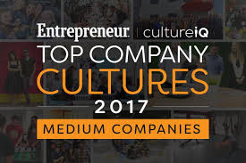 medium sized companies the best company cultures in 2017