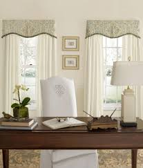 Valance Curtains For Living Room Antiqued Watercolor Scalloped Valance With Trim Country Curtains