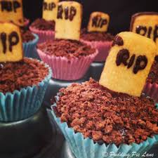 pudding pie lane halloween rip mini graveyard cupcakes