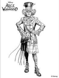 disney drawing alice wonderland coloring pages printable